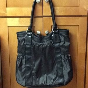Lancôme Paris Charcoal Black Nylon Tote